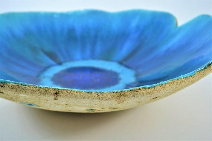 Deep Turquoise Blue Platter ceramic