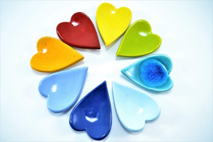 Hearts ceramic