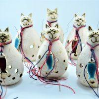 Cat Candle Holder ceramic
