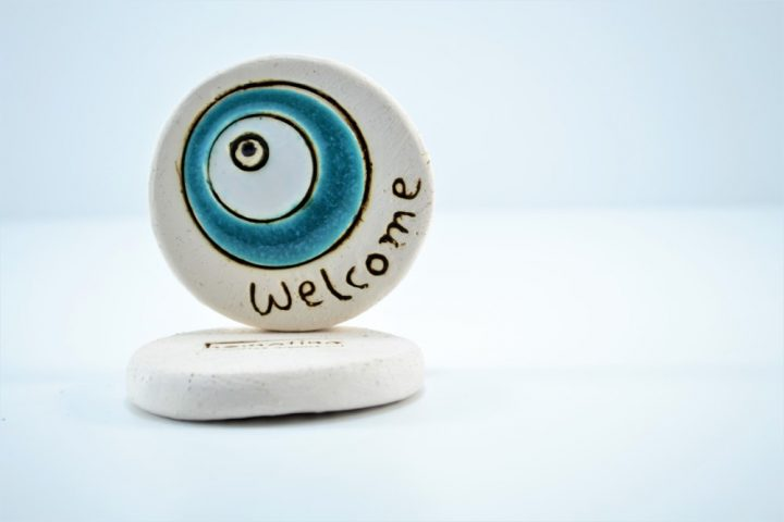 Welcome Eye ceramic