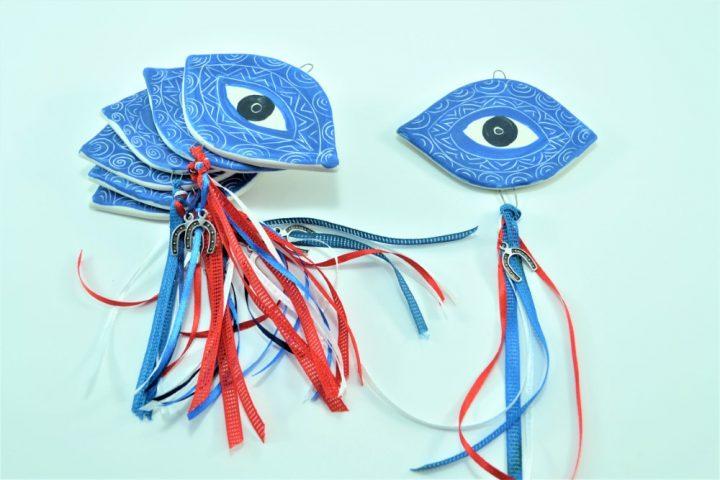Blue Carved Eye ceramic