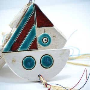 Boat with an Eye ceramic