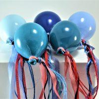 Turquoise Blue Balloon, Blue Balloon, Petrol Blue Balloon, Lavender Balloon & Blue Light Balloon ceramic