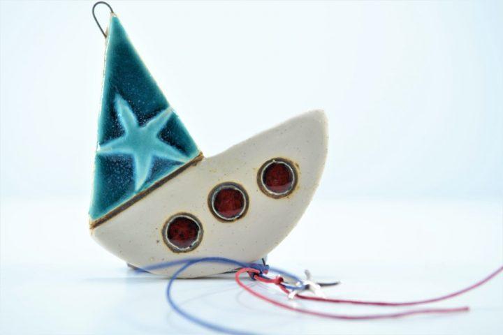 Boat Minimal Charm ceramic