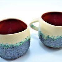 Boulder Mug Red ceramic