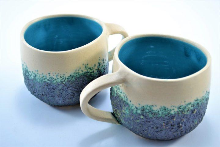 Boulder Mug Turquoise Blue ceramic