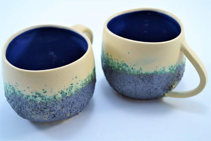 Boulder Mug Blue ceramic