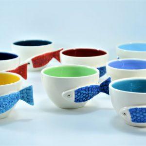 Fish Handle Cup ceramic