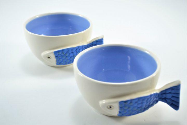 Fish Handle Cup Lavender ceramic
