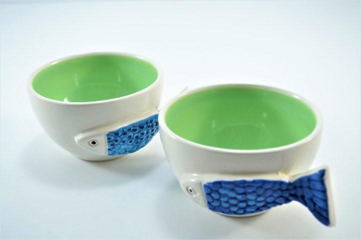 Fish Handle Cup Pistachio Green ceramic