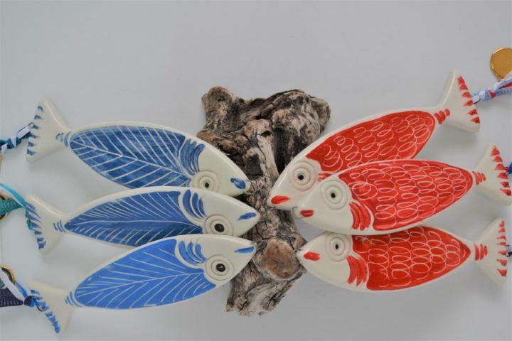 Red Fish & Blue Fish ceramic