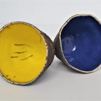 Sponge Bowls Yellow & Blue ceramic