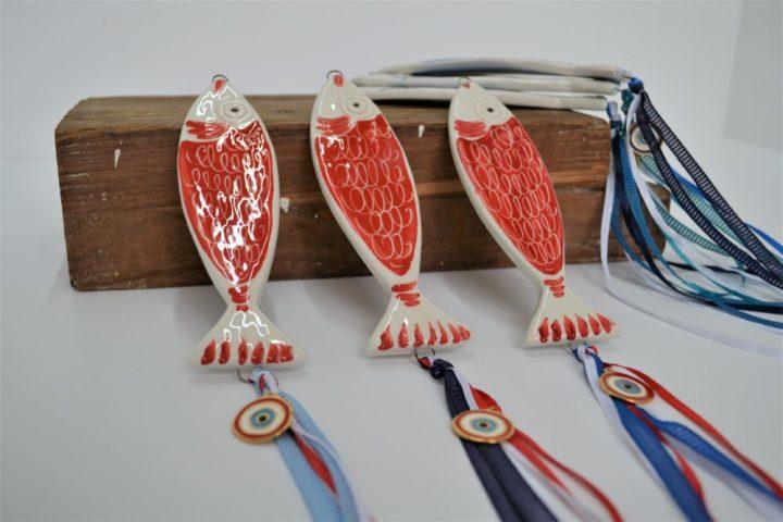 Red Fish ceramic
