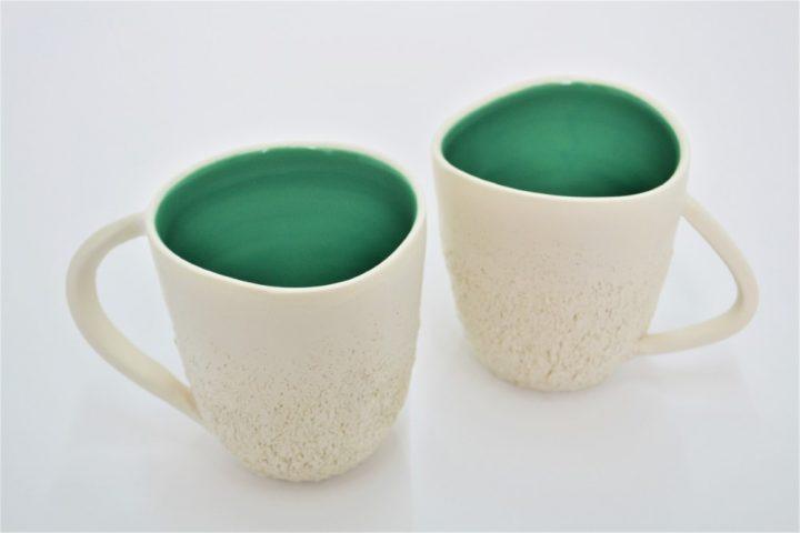 Sponge Mug Cypress Green ceramic