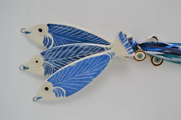 Blue Fish ceramic