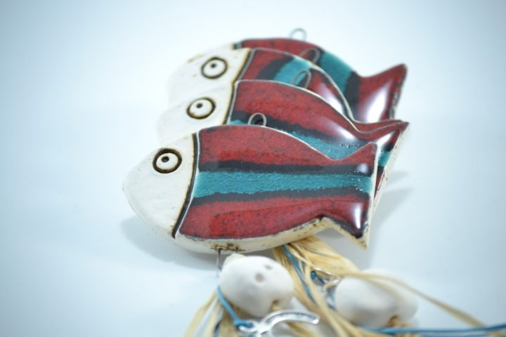 Fish Charms D ceramic