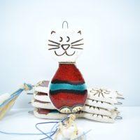 Cat Charms D ceramic