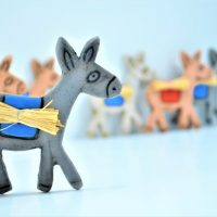 Magnet Donkey Anthracite-Blue ceramic