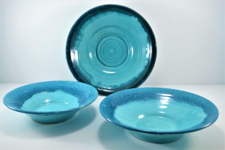 Platter D:31,5 cm & Platter D:29 cm ceramic