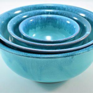 Deep Bowl D:25 cm & Deep Bowl D:22,5 cm & Deep Bowl D:17,5 cm & Deep Bowl D:13 cm ceramic
