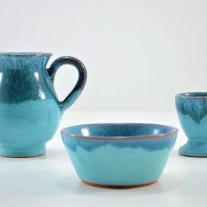 Small Milk Pitcher & Egg Cup & Tiny Dip Bowl ceramic