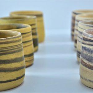 Κούπα Κρασιου Mixed Clay Κίτρινο Της Ώχρας & Μπεζ της Άμμου κεραμικη