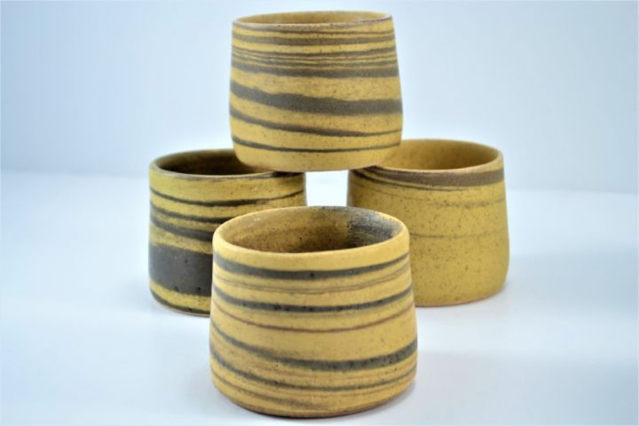 Wine Cup Mixed Clay Yellow Of Ochre ceramic