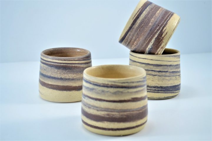 Wine Cup Mixed Clay Beige Of Sand ceramic
