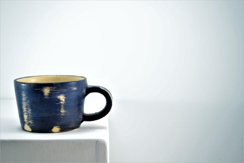 Black Carved Mug