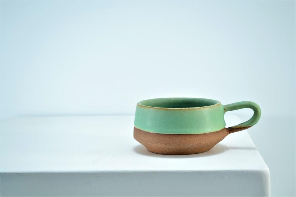 Short Cup Sumatra Green ceramic