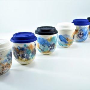 Take Away Mug with Lid ceramic