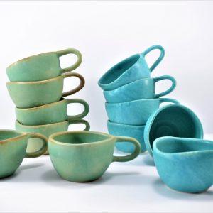 Cave Mug Sumatra Green & Turquoise Blue ceramic