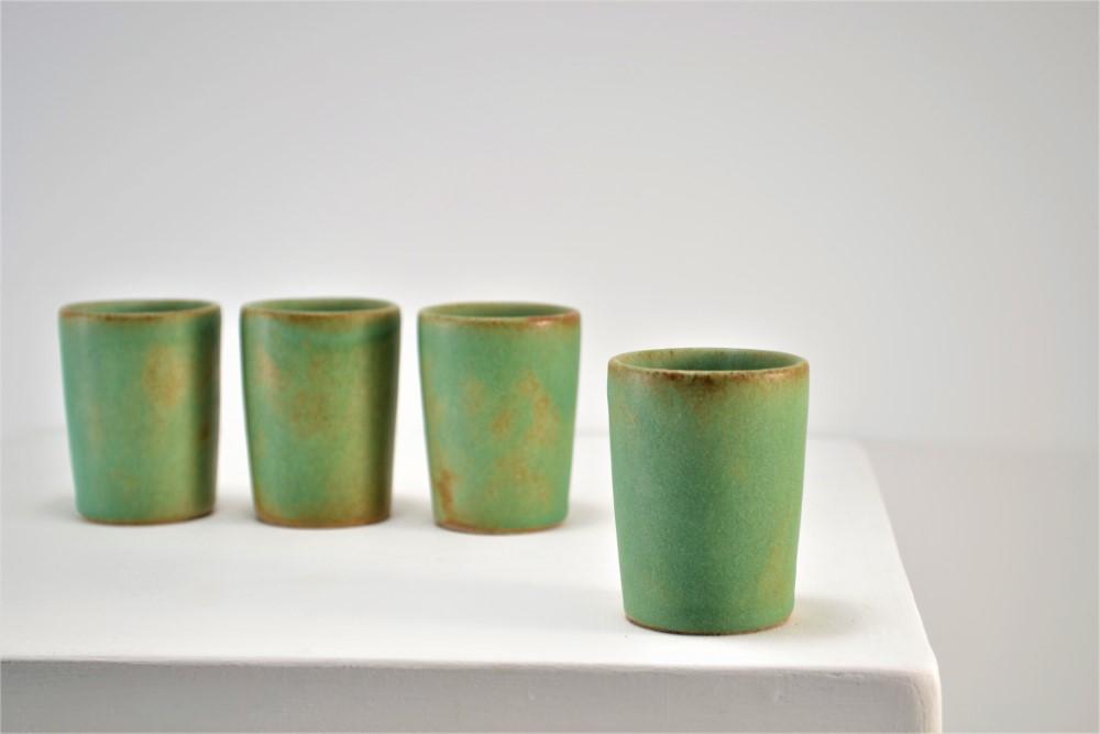 Shot Glasses Sumatra Green ceramic
