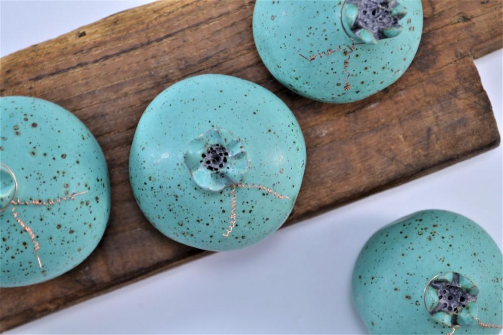 Pomegranate Turquoise Blue with Specks ceramic