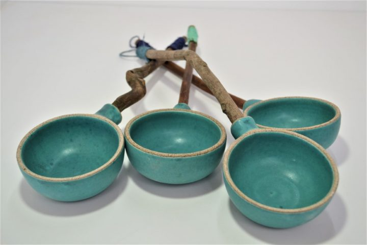 Κουτάλα Κλαδί Βαθιά Γαλάζια κεραμικη