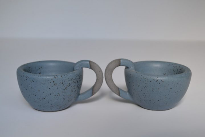 Thick Espresso Cup Indigo With Specks ceramic
