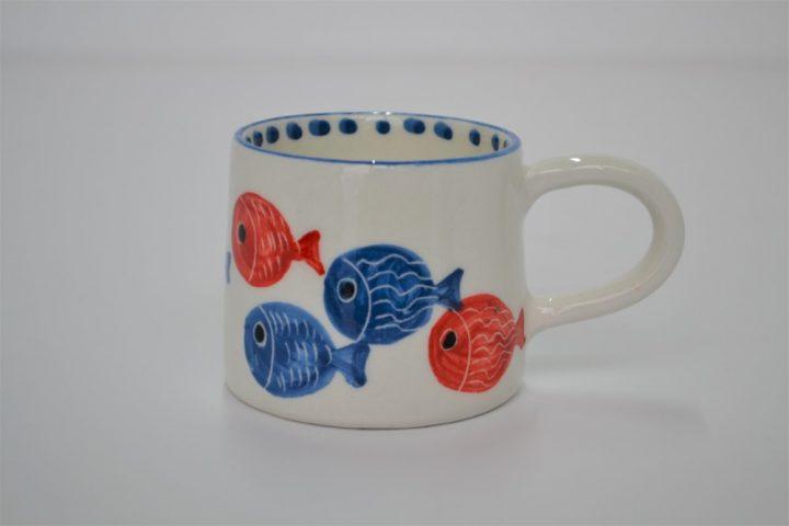 Short Conical Cup Fat Fish ceramic