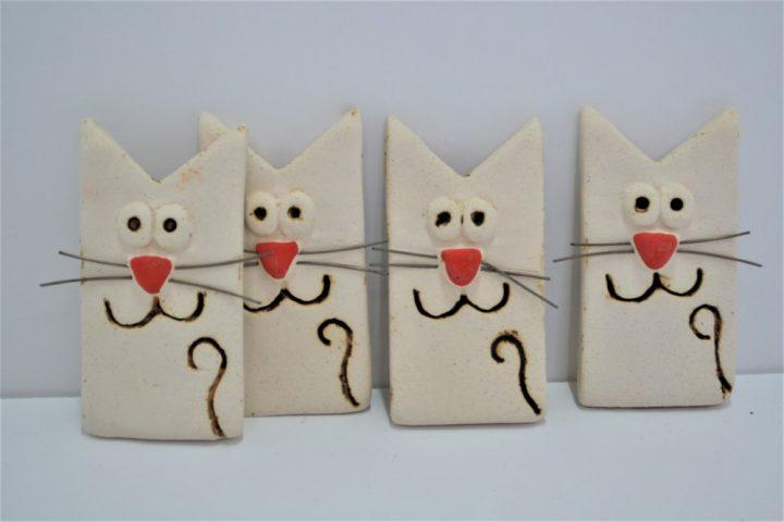 Magnet Red Cat ceramic