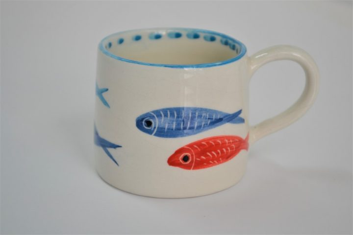 Short Conical Cup Thin Fish ceramic