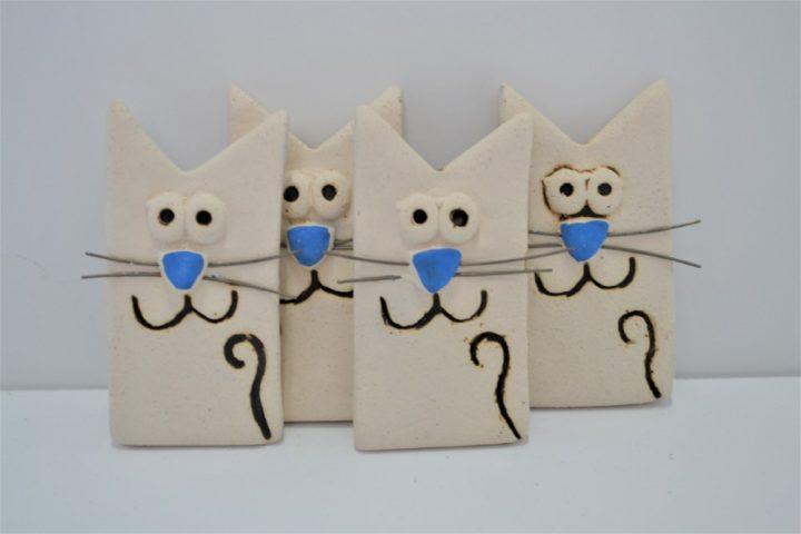 Magnet Blue Cat ceramic