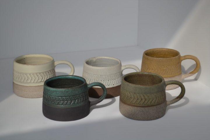 Fishbone Carved ceramic