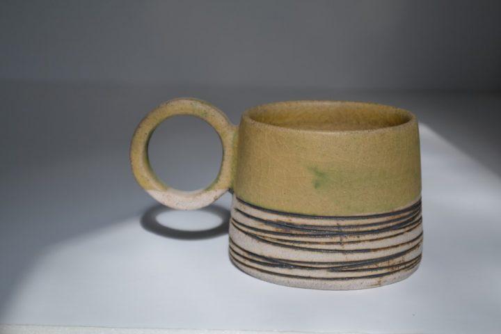 Lined Mug Honey/Grey ceramic