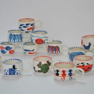Short Uneven Cup ceramic