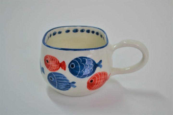 Short Uneven Cup Fat Fish ceramic