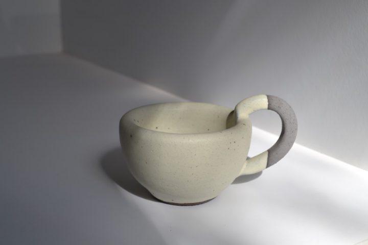 Thick Espresso Cup Cream ceramic