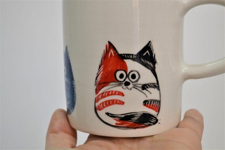 Cylinder Mug Cartoon Cats ceramic