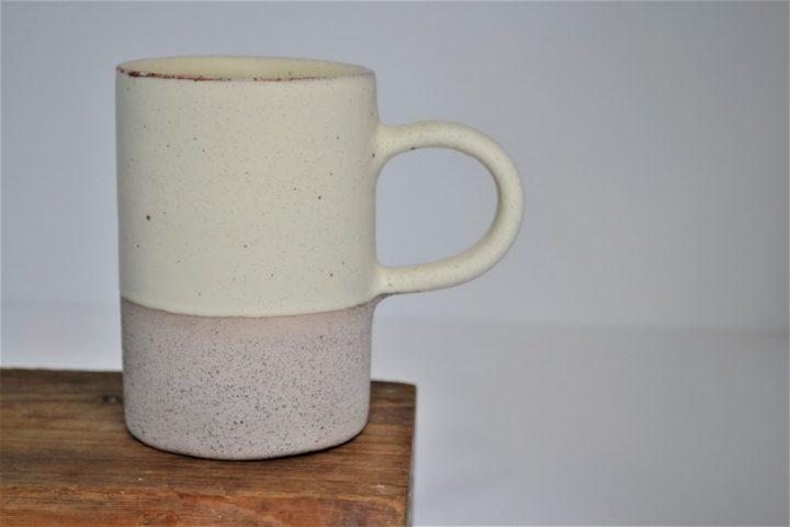 Cylinder Cup Cream/Grey ceramic