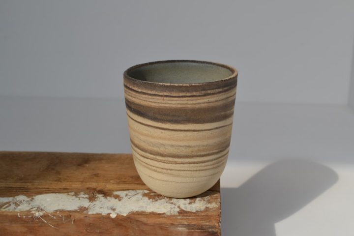 Cup - Mixed Clay Blue Grey ceramic