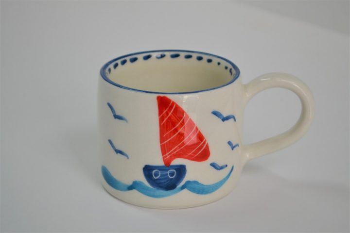 Short Conical Cup Boats ceramic