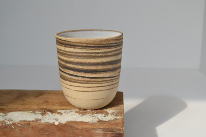 Cup - Mixed Clay White ceramic